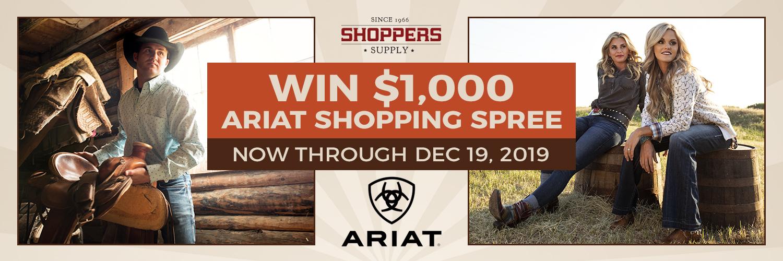 Win $1,000 Ariat Shopping Spree through Dec 19